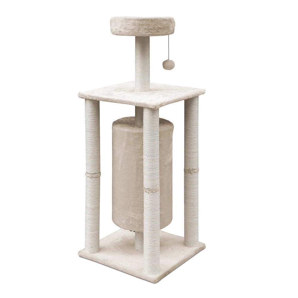 123cm Multi Level Cat Scratching Post - Beige
