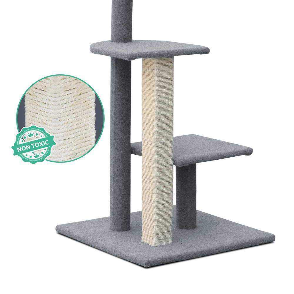 i.Pet 124cm Cat Scratching Post - Grey - JUST Hammocks