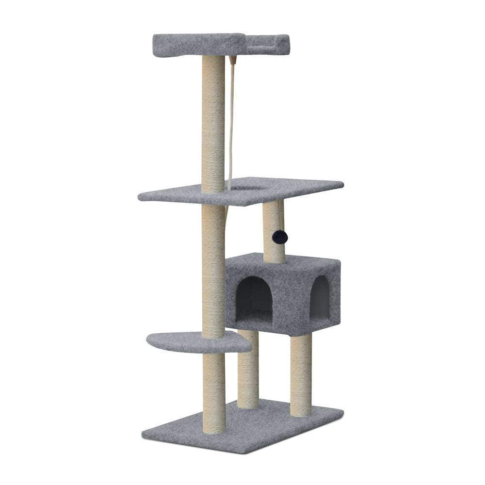 i.Pet 145cm Cat Scratching Post - Grey - JUST Hammocks