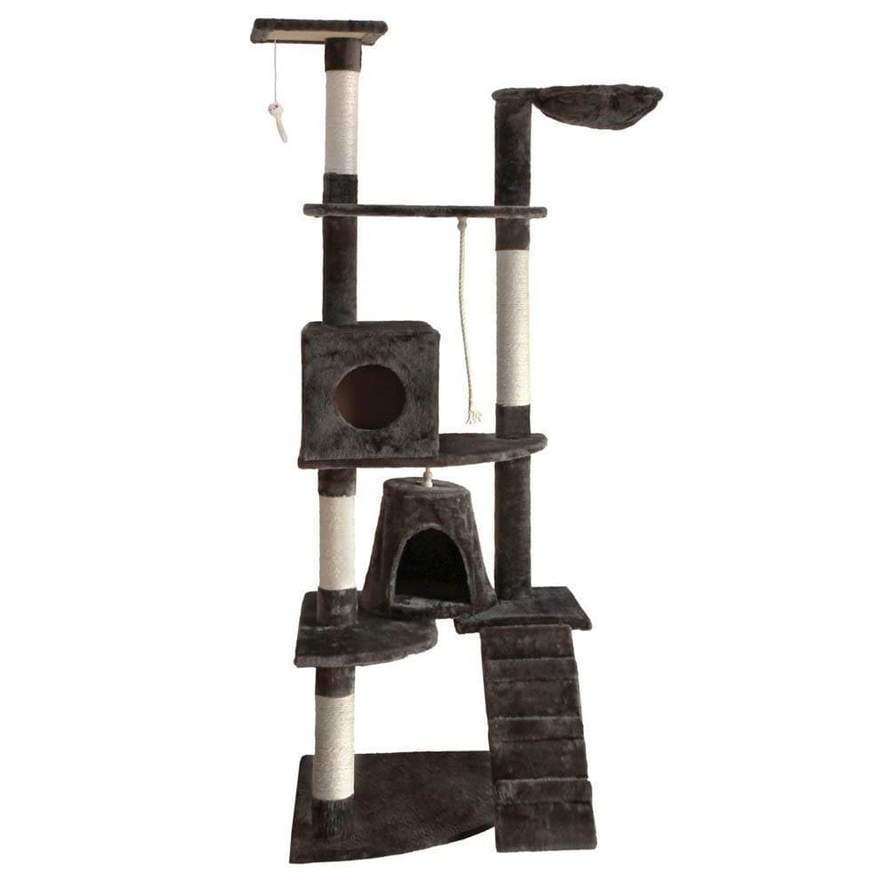 i.Pet 193cm Multi Level Cat Scratching Post - Grey - JUST Hammocks