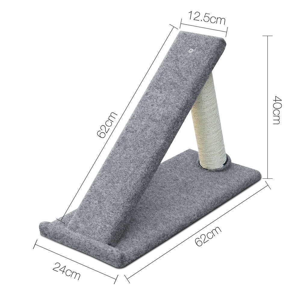 40cm Cat Scratching Ramp - Grey - JUST Hammocks