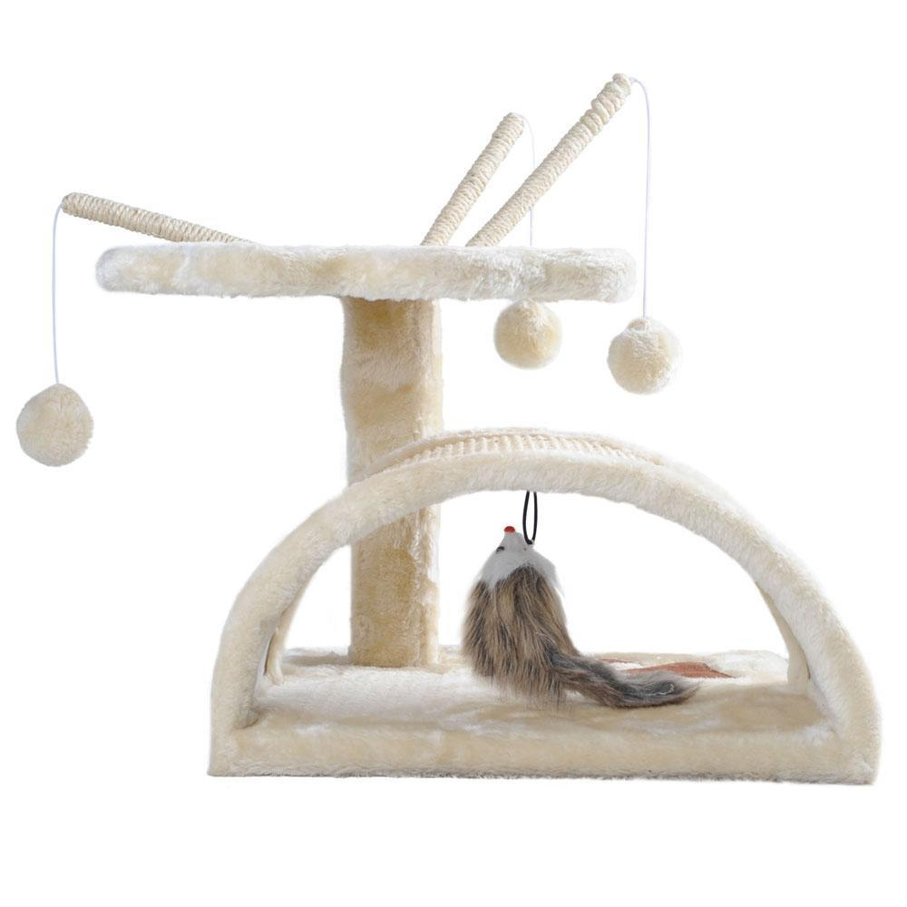 i.Pet 45cm Cat Scratching Tree - Beige - JUST Hammocks