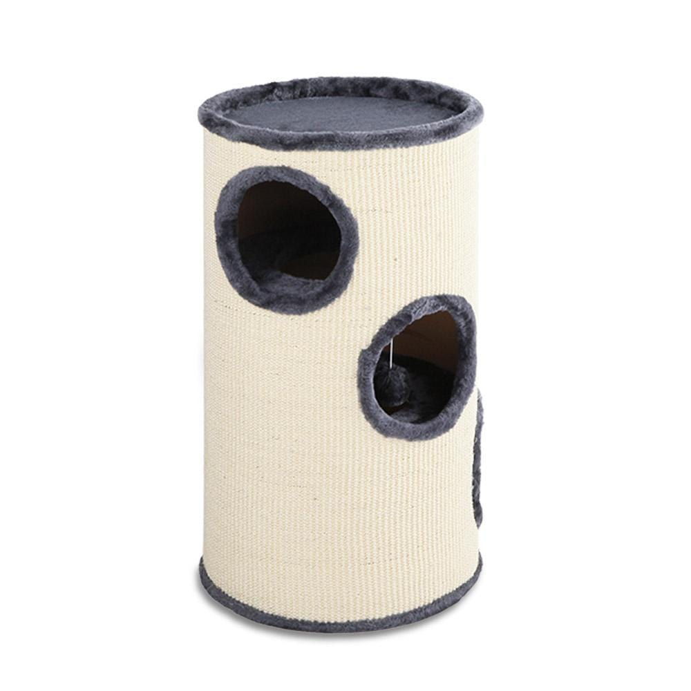 i.Pet 70cm Cat Scratching Post - Grey & White - JUST Hammocks