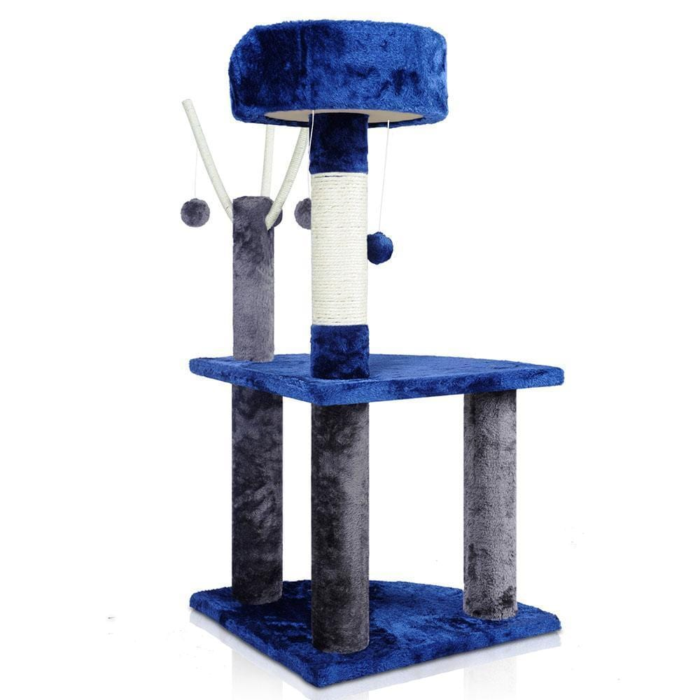 95cm Cat Scratching Post - Blue & Grey - JUST Hammocks