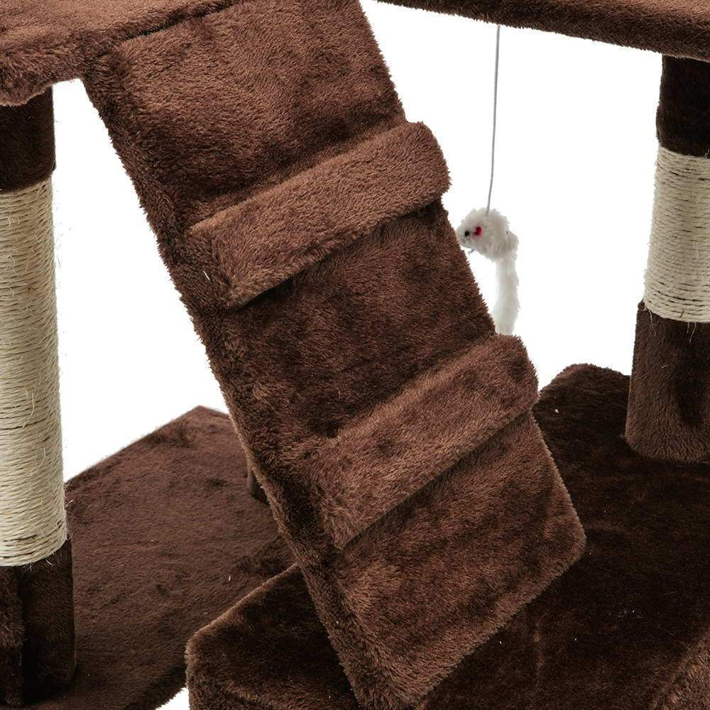Cat Scratching Tree Post Sisal Pole 180cm Brown - JUST Hammocks