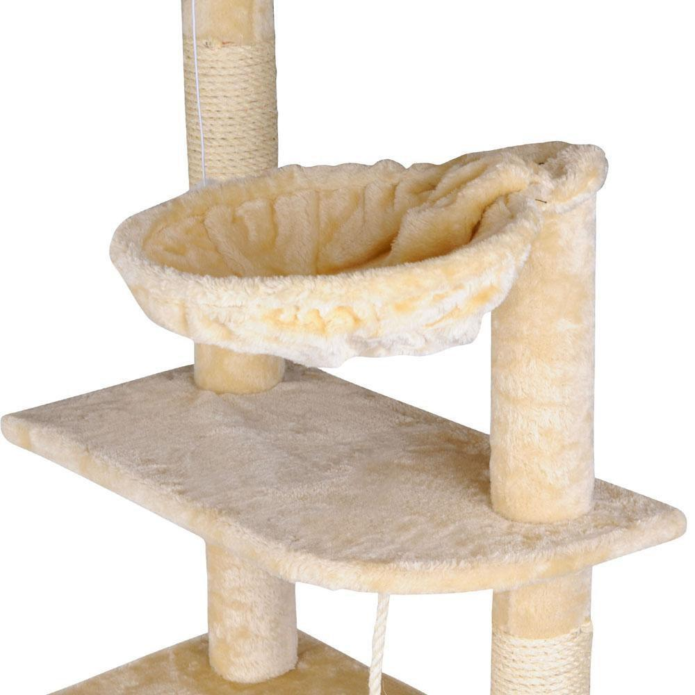 Cat Scratching Tree Post Sisal Pole 193cm Beige - JUST Hammocks