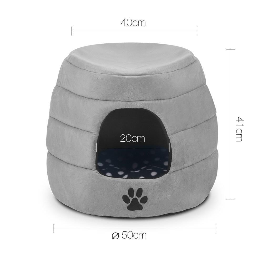Foldable Pet Bed - Grey - JUST Hammocks
