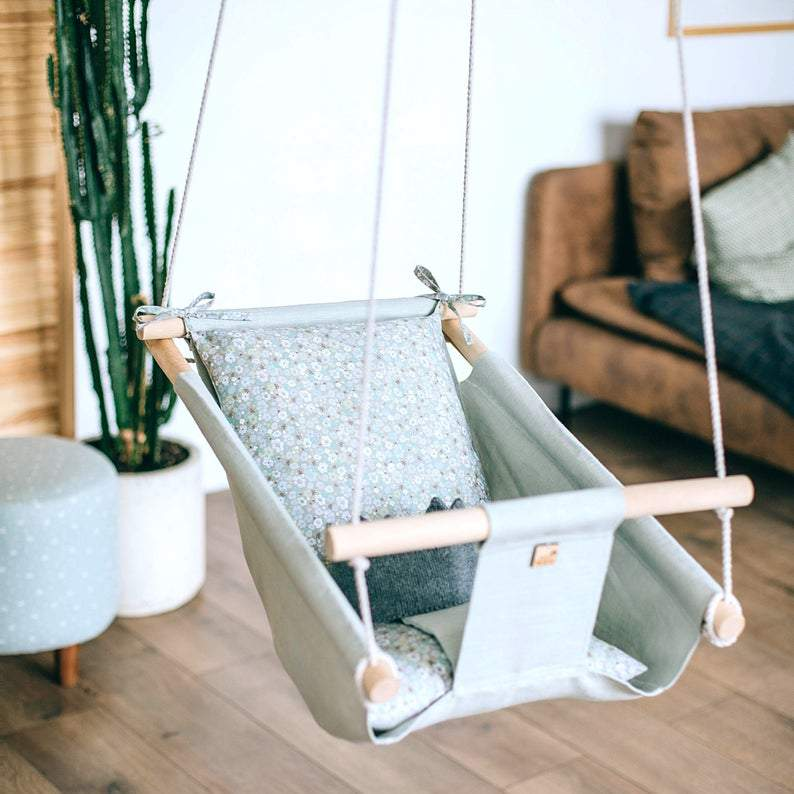 SUMMER Baby Linen Swing Chair and Hanging Cradle - JUST Hammocks