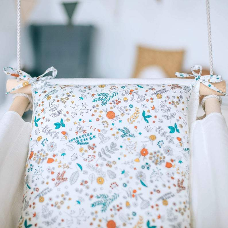 SPRING Baby Linen Swing Chair and Hanging Cradle - JUST Hammocks