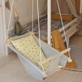 TREES Baby Linen Swing Chair and Hanging Cradle - JUST Hammocks