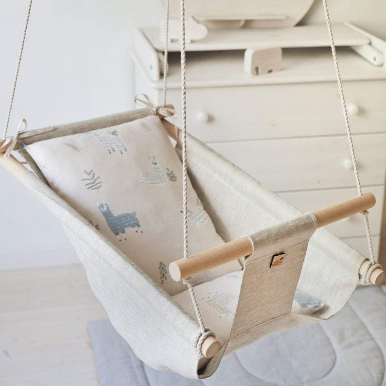 LAMA Baby Linen Swing Chair - JUST Hammocks