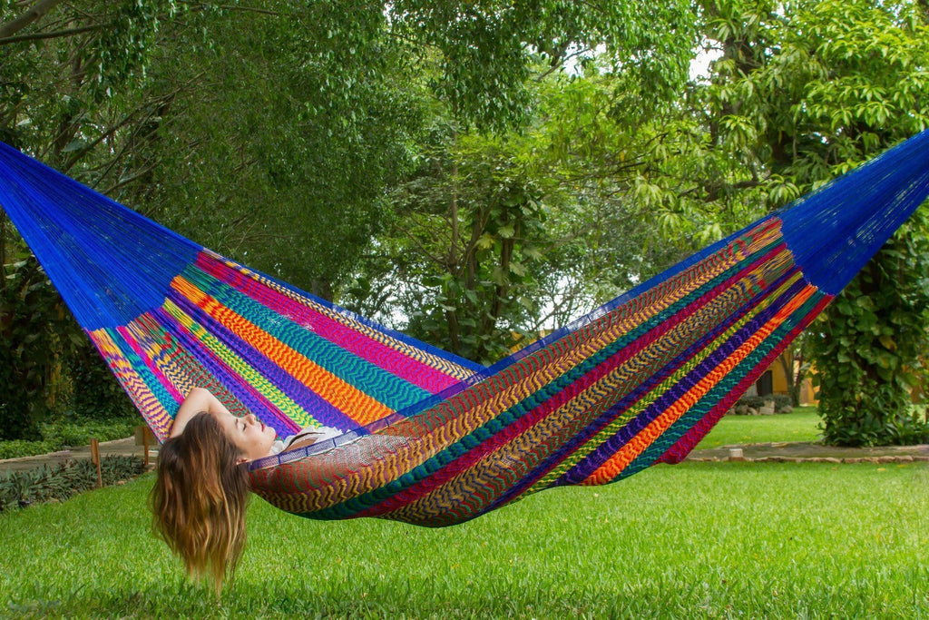 Jumbo Nylon Plus Hammock in Mexicana - JUST Hammocks