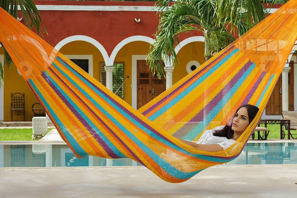 Jumbo Size Cotton Hammock in Alegra - JUST Hammocks