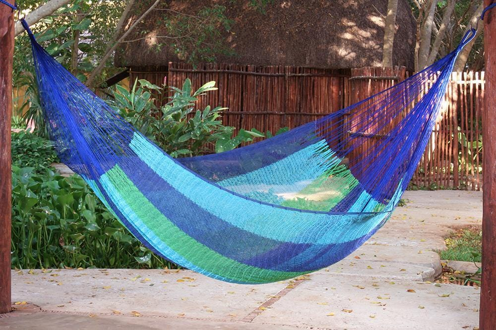 Jumbo Size Cotton Hammock in Oceanica - JUST Hammocks