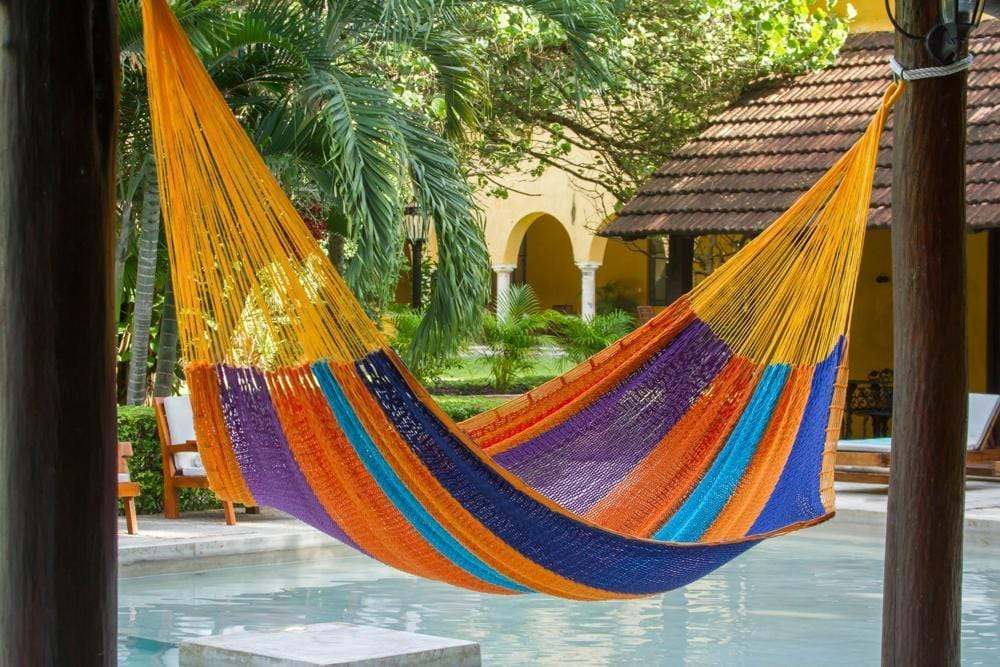 Jumbo Size Outdoor Cotton Hammock in Alegra - JUST Hammocks