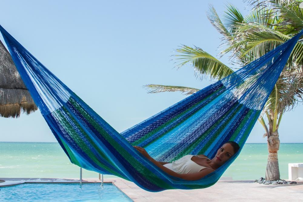 King Nylon Plus Hammock in Oceanica - JUST Hammocks