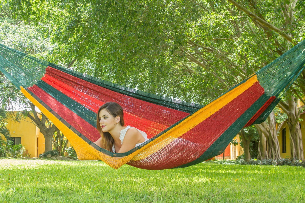 King Size Outdoor Cotton Hammock in Imperial - JUST Hammocks