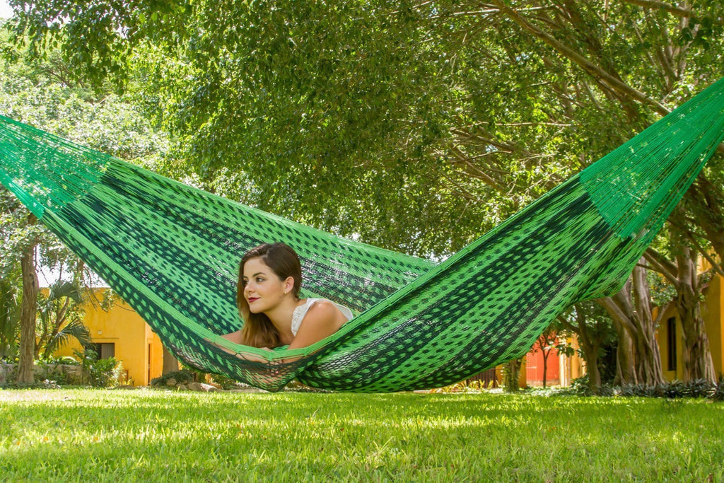 King Size Outdoor Cotton Mexican Hammock in Jardin - JUST Hammocks