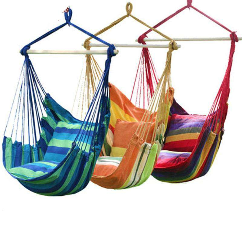 Children Hanging Chair Swing With Soft Pillow - JUST Hammocks