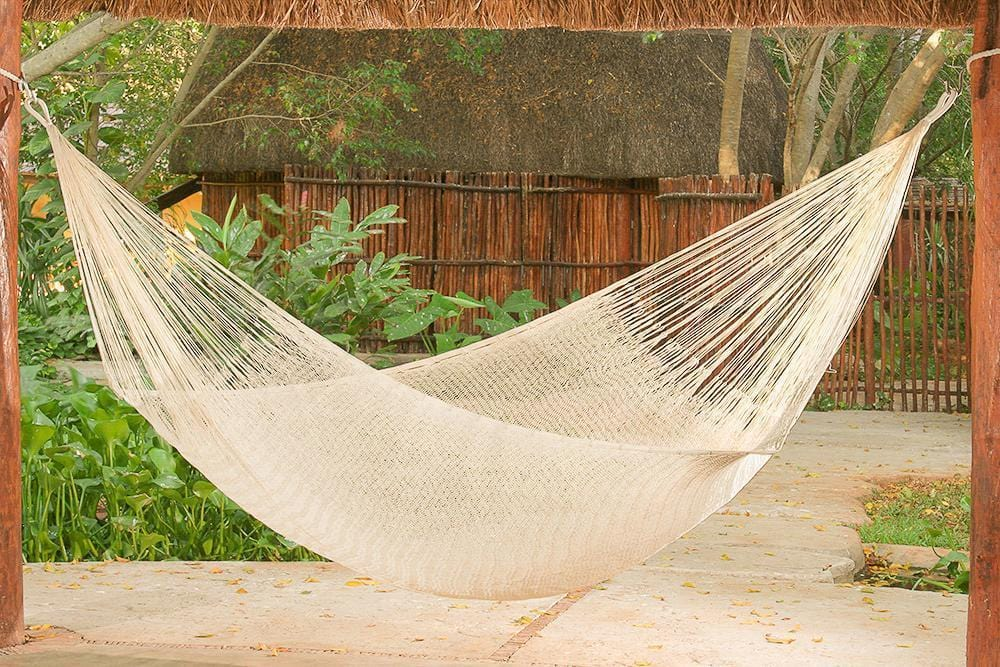 Queen Cotton Hammock in Cream - JUST Hammocks