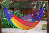 Queen Size Cotton Hammock in Rainbow - JUST Hammocks
