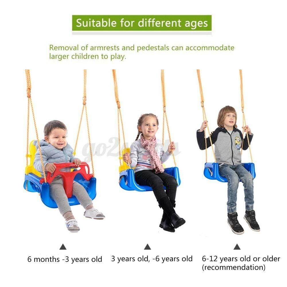 Adjustable Safe Bucket Baby Swing Seat with Seat Belt Kids Outdoor Yard Play - JUST Hammocks