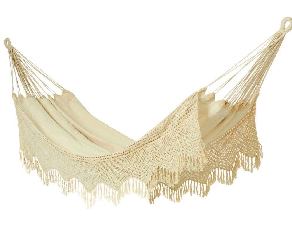 Carmen Double 100% Cotton Crochet Hammock