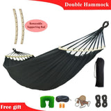 Double Black Hanging Hammock