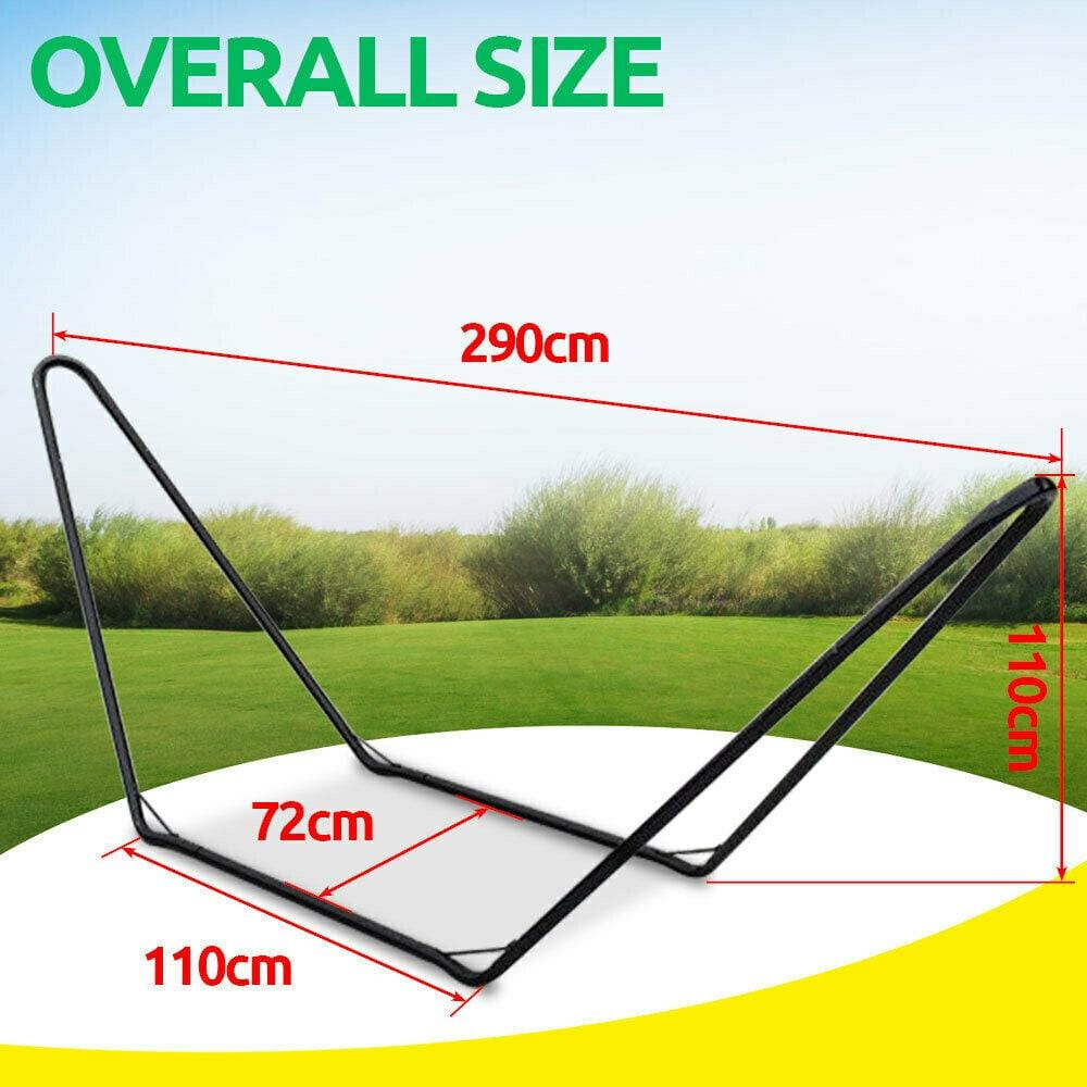 Hammock w/ Hammock Stand Combo, Single, Steel Frame Swinging Outdoor Yard Garden
