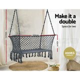 Gardeon Hammock Chair Patio 2 Person Swing Camping Hammocks Indoor Portable Grey - JUST Hammocks