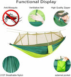 Outdoor Camping Hammock Mosquito Net Swing Sleeping Bed with Rain Fly Tent Tarp - JUST Hammocks