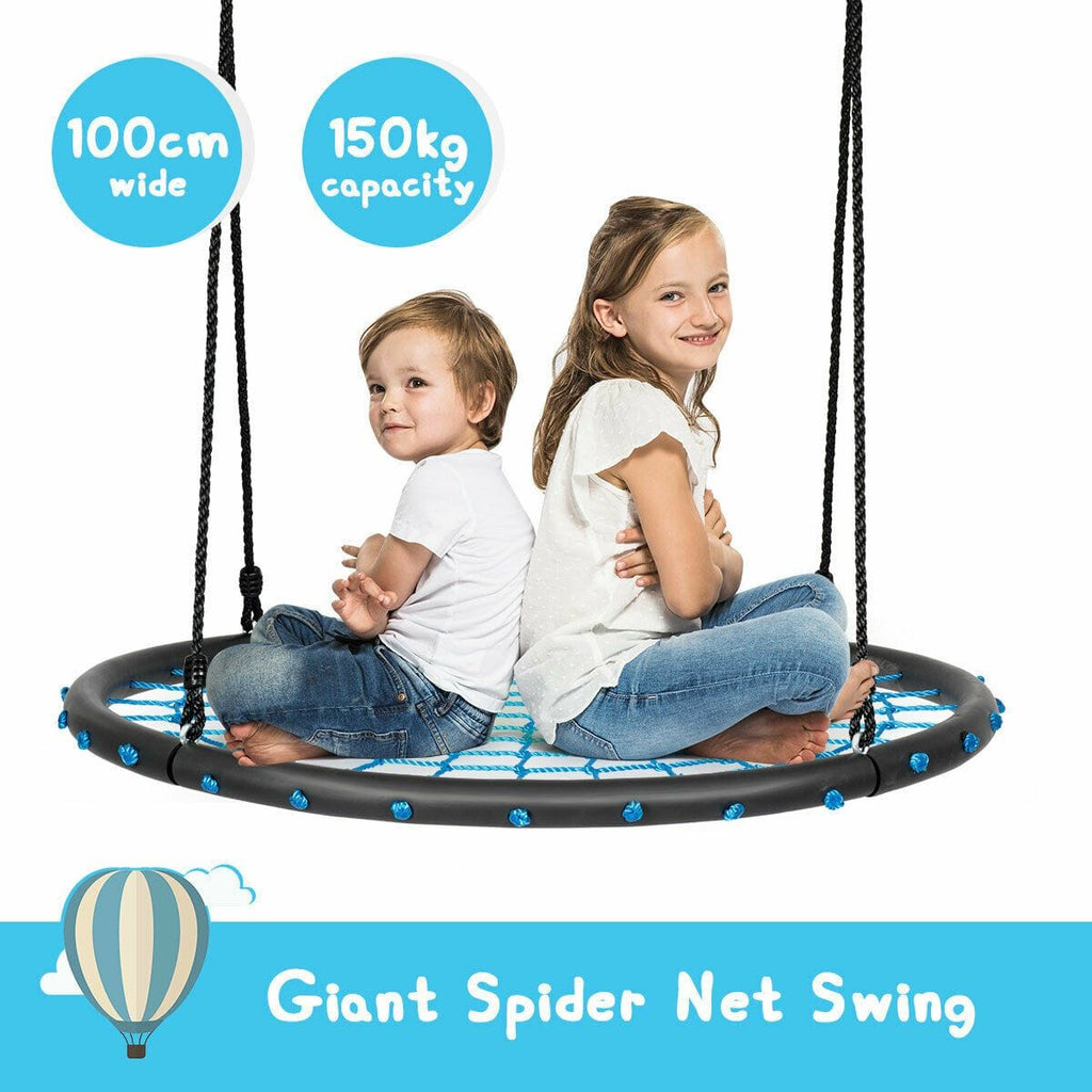 Kids 100cm Spider Web Tree Swing Set Outdoor Hammock Chair Yard Play Toys - JUST Hammocks