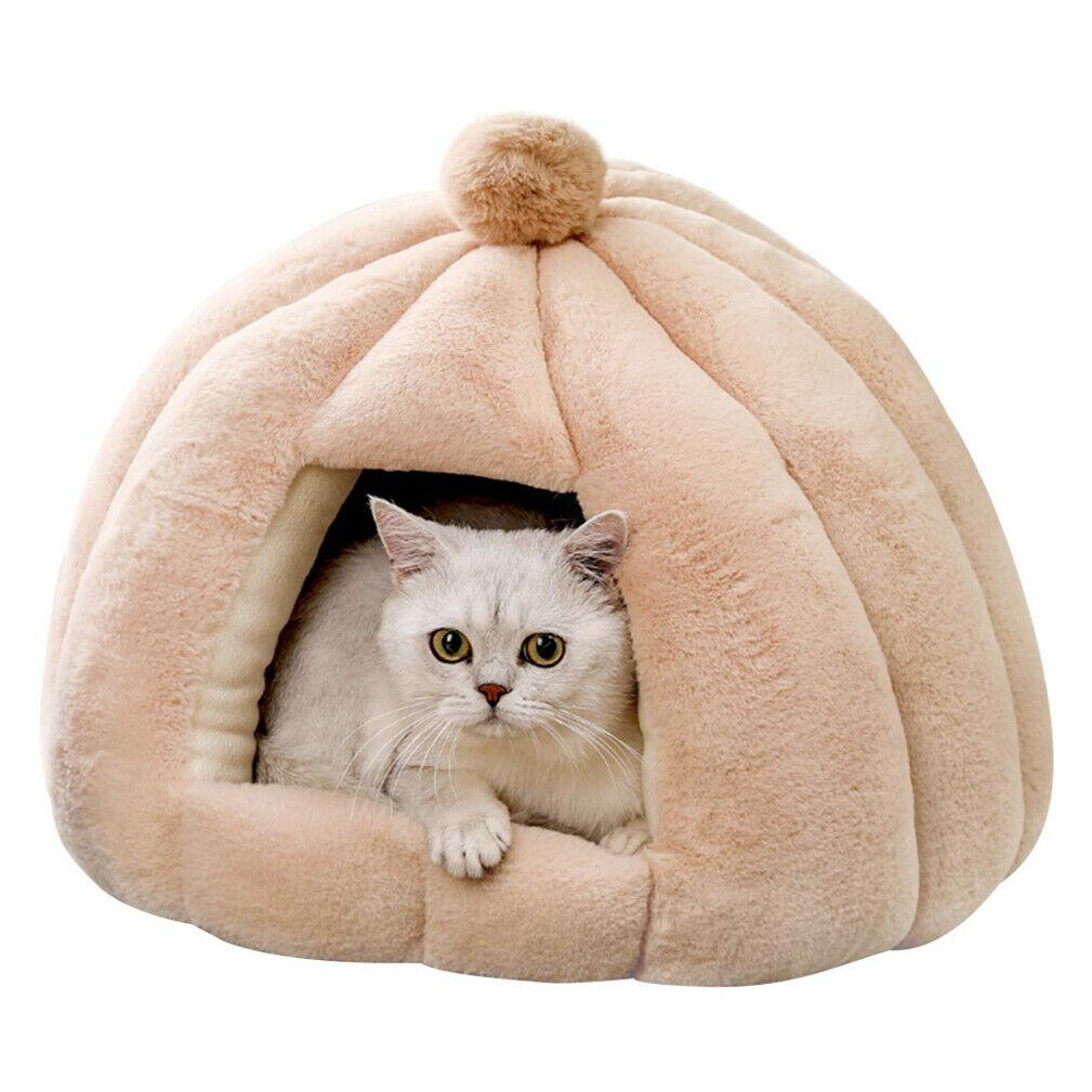Foldable Pet Tent Soft Bed Dog Cat Cave Linter Surface Cotton Filling Skid-free - JUST Hammocks