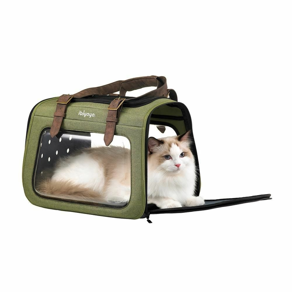Foldable Pet Carrier Bag For Small Dog or Cat Ibiyaya Mixed Fabric Comfort - JUST Hammocks