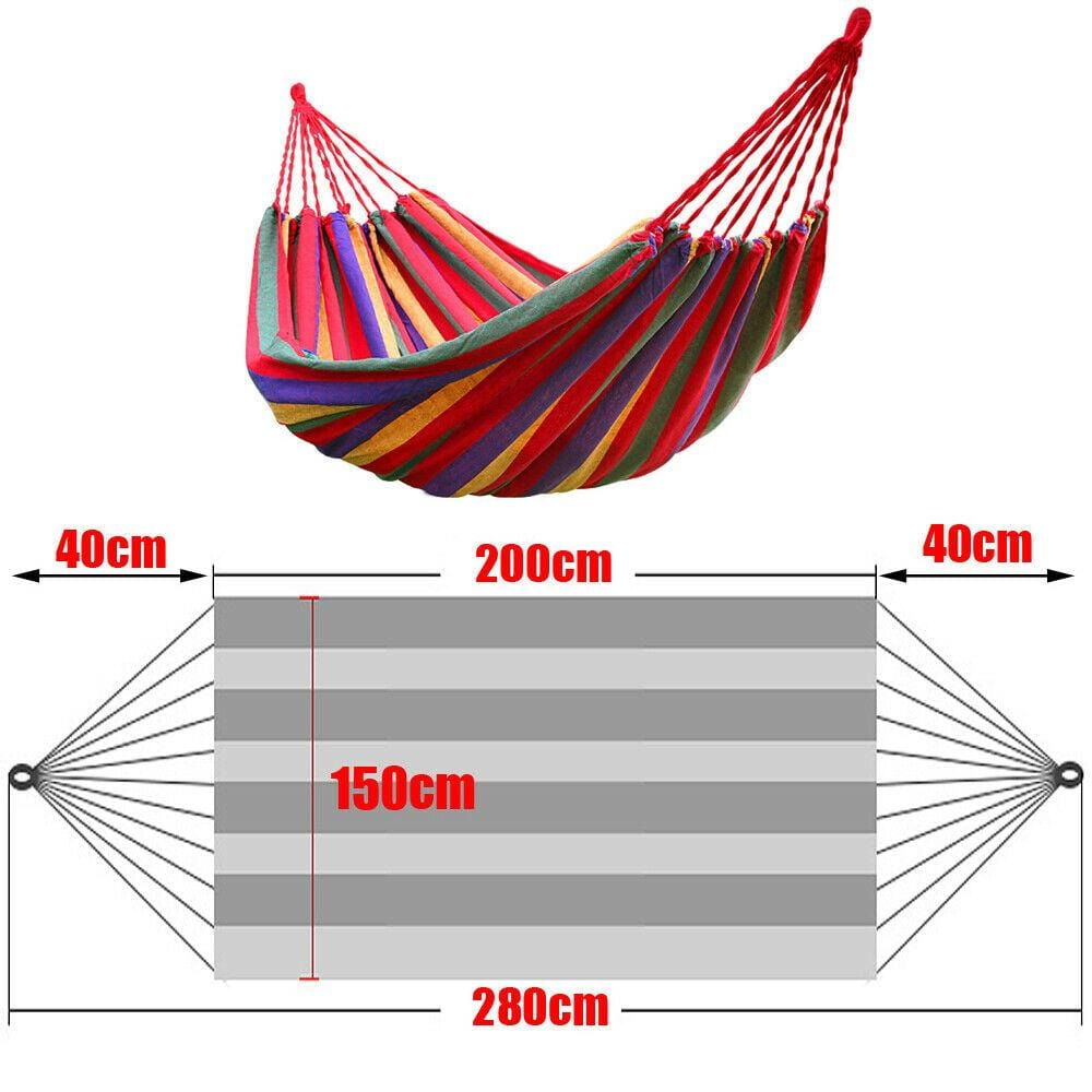 Outdoor Double Hammock Bed Beach Swinging Camping Strong Hanging Tree Strap - JUST Hammocks