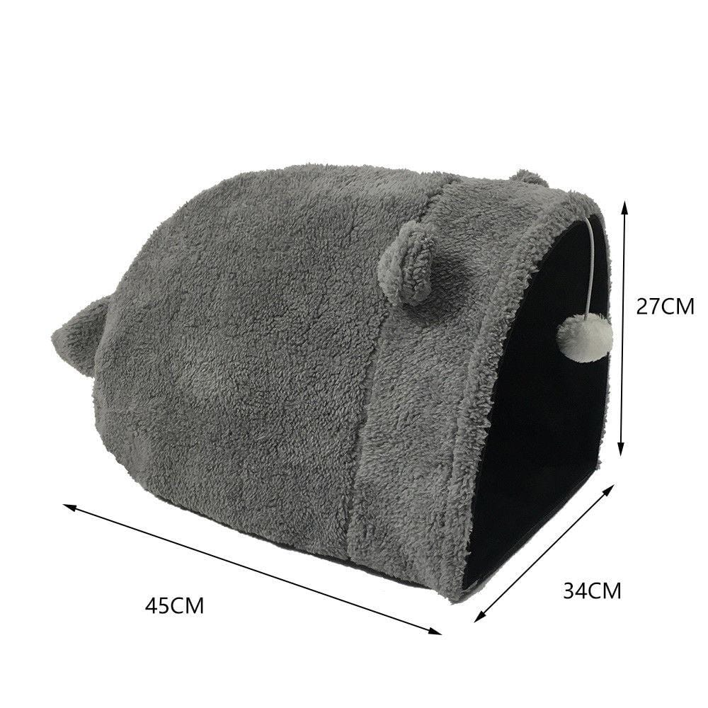 Crinkle Kitty Cat Warm Sleeping House Bed Portable Pet Tunnel Play Toys - JUST Hammocks