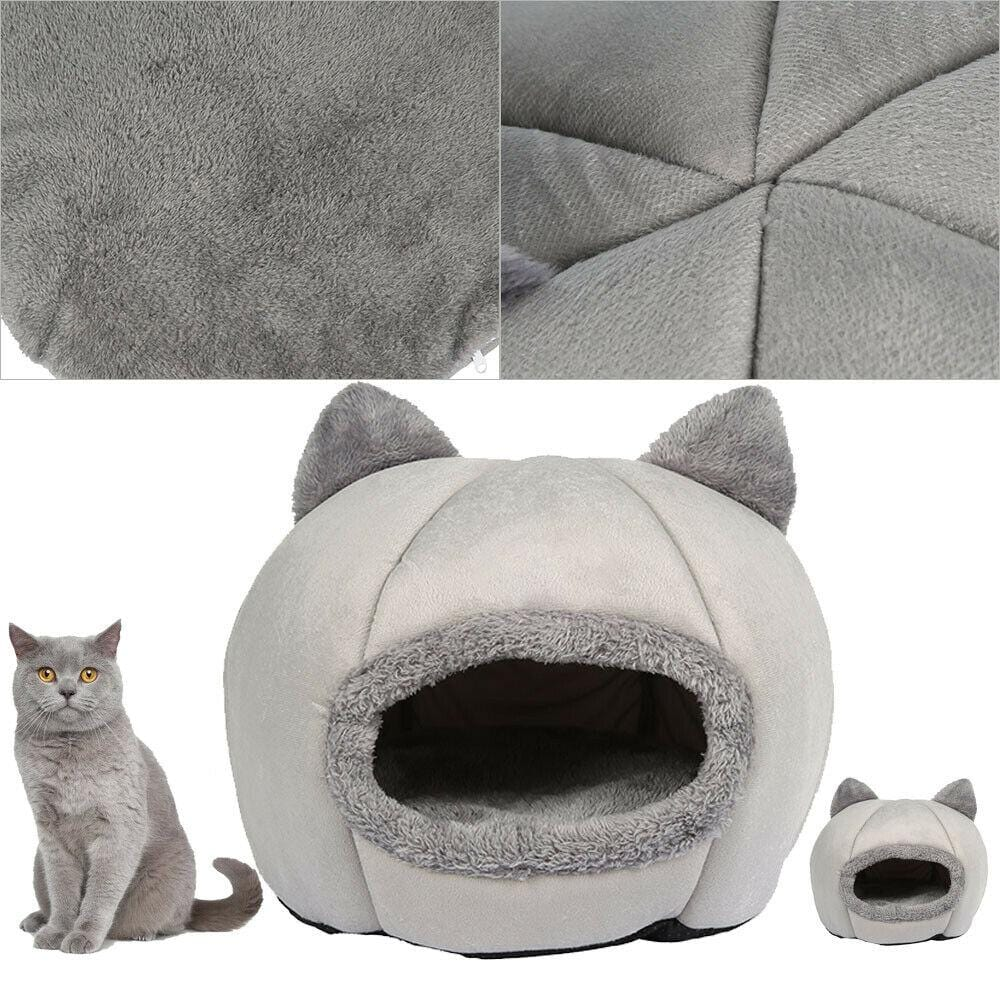 Large Pet Bed Cave Wool Cozy Cat Igloo - JUST Hammocks