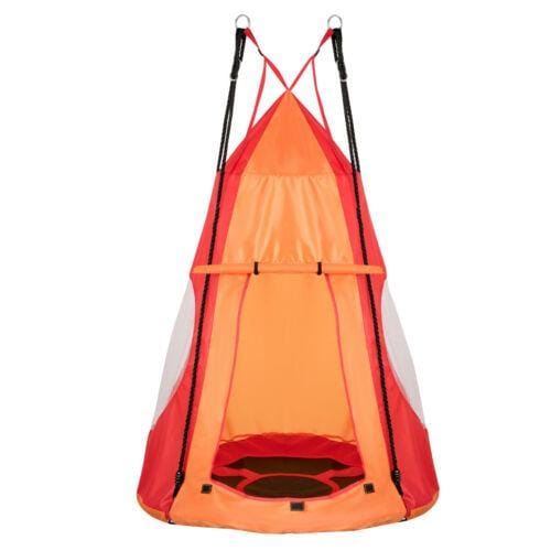 Hanging Tent Tree Swing Set 2 in 1 Outdoor Hammock Chair Kids Play Yard Toy - JUST Hammocks