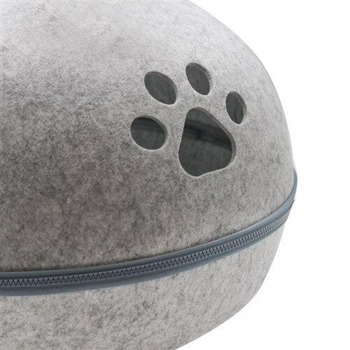 Cat Cave Bed Igloo Soft House Sleeping Bag Mat Grey Kitten Cave - JUST Hammocks
