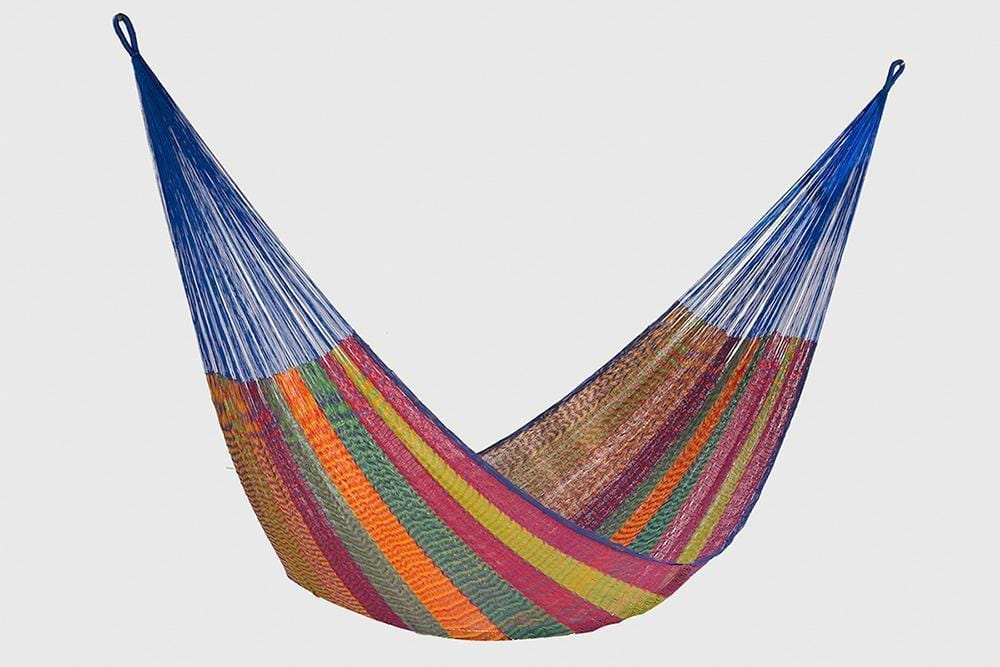 Single Size Cotton Mexican Hammock in Mexicana Colour - JUST Hammocks