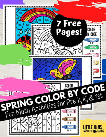 Spring Color By Code Math!