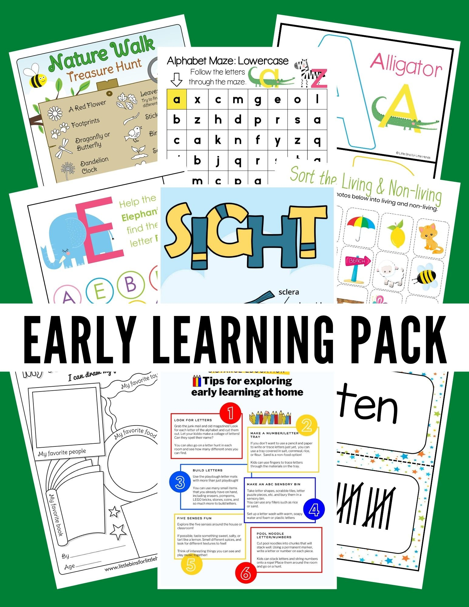 Early Learning Activity Pack