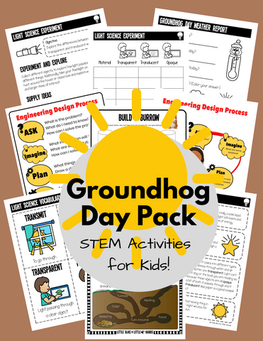 Groundhog Day STEM Pack