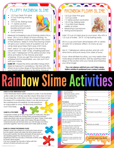 Rainbow Slime Pack