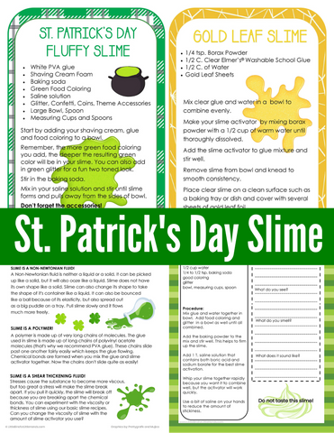 St. Patrick's Day Slime Pack