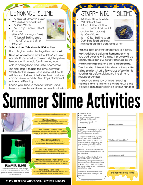 Summer Fun Activity Bundle
