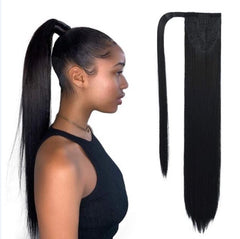 Wrap Around Ponytail - 20 inch Super Straight - 100% Virgin Hair - Color #1B