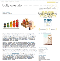 Press from Bolly In Style - November 2, 2012