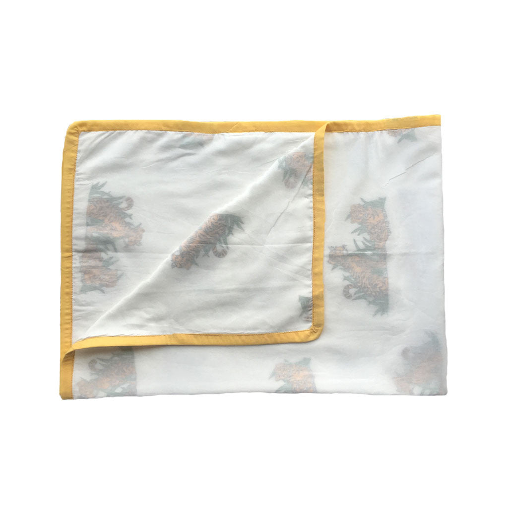 Layered Muslin Blanket - Tiger