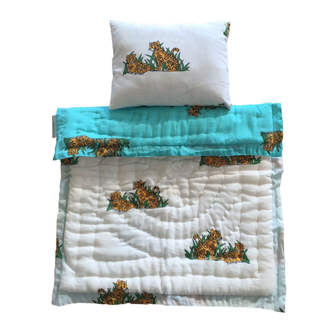 Little Play Bedding- Tiger Pillow + Blanket
